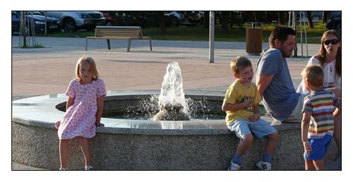 Fountain Zuzanka in Záhorská Bystrica, Slovakia (2006)
